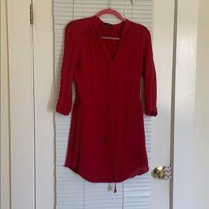 Babaton Flowy silk dress- size Small